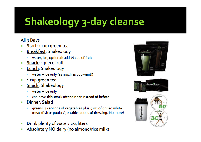 Shakeology 3-Day-Cleanse