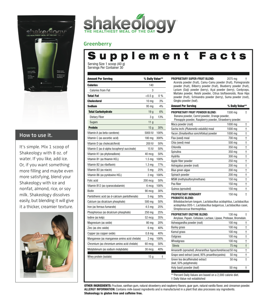 Shakeology Ingredients | www.galleryhip.com - The Hippest Pics